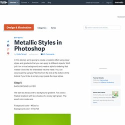 Metallic Styles in Photoshop