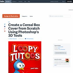 Create a Cereal Box Cover from Scratch Using Photoshop's 3D Tools