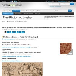 GBG - Free Photoshop brushes, digital stamps, vectors, illustrations and design elements for download