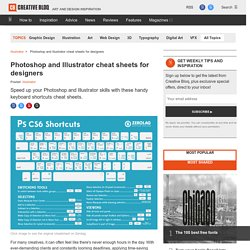 Photoshop and Illustrator cheat sheets for designers