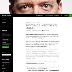 Photoshop: Impostazioni Colore