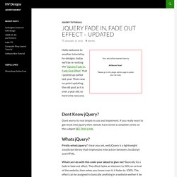 Jquery Fade In, Fade Out Effect – Updated