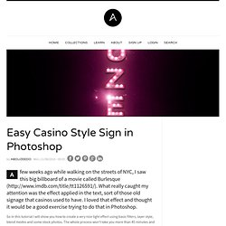 Easy Casino Style Sign in Photoshop