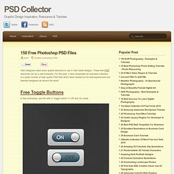 150 Free Photoshop PSD Files