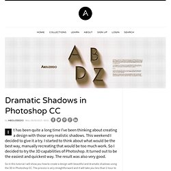 Dramatic Shadows in Photoshop CC | Abduzeedo Design Inspiration