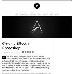 Chrome Effect in Photoshop