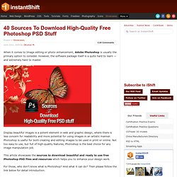 40 Sources To Download High-Quality Free Photoshop PSD Stuff | Showcases