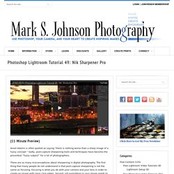 Photoshop Lightroom Tutorial 49: Nik Sharpener Pro