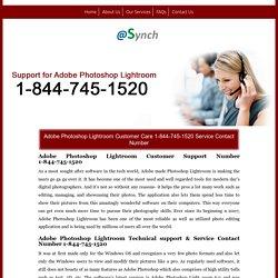 Photoshop Lightroom 1-844-745-1520 Mac Live Support Number