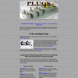 Photoshop plugins abound at the PlugPage, download Macintosh and Windows freeware, shareware, and demo Photoshop plugins and filters