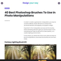 40 Best Photoshop Brushes To Use In Photo Manipulations