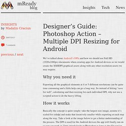 Photoshop Action - Multiple DPI Resizing for Android from mReady