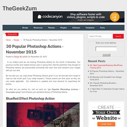 Popular Photoshop Actions - November 2015