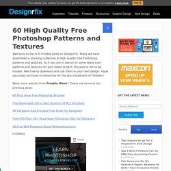 60 High Quality Free Photoshop Patterns and Textures - designrfix.com