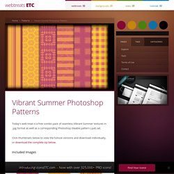 Vibrant Summer Photoshop Patterns