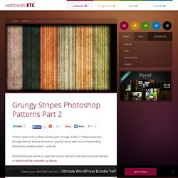 Grungy Stripes Photoshop Patterns Part 2