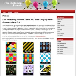 Free Photoshop Patterns | Photoshop Seamless Tiles and JPG
