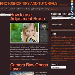 Photoshop tips, tutorials and lessons for photographers