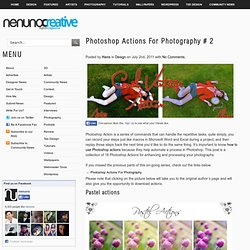 Photoshop Actions For Photography # 2
