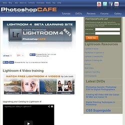 Photoshop Lightroom 4 videos at PhotoshopCAFE. Lightroom 4 learning site.