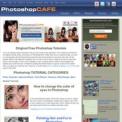Photoshop Tutorials from PhotoshopCAFE -free Photoshop training