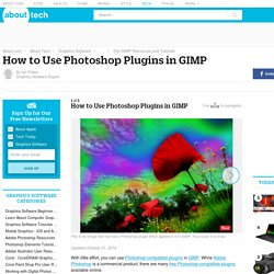 How to Use Photoshop Plugins in GIMP