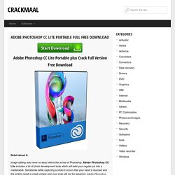 Adobe Photoshop CC Lite Portable Crack Full Version