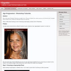 Photoshop Tutorials - Age Progression