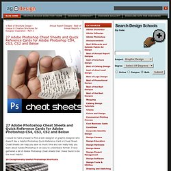 27 Adobe Photoshop Cheat Sheets and Quick Reference Cards for Adobe Photoshop CS4, CS3, CS2 and Below