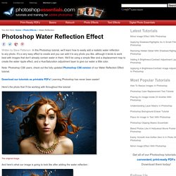 Photoshop Tutorials: Add A Realistic Water Reflection To A Photo