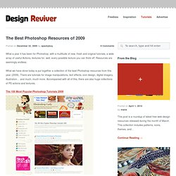 The Best Photoshop Resources of 2009