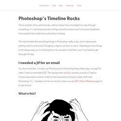 Photoshop's Timeline Rocks