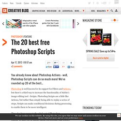 The 20 best free Photoshop Scripts