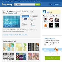 Ali 40 Photoshop seamless patterns set #1