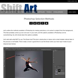 Photoshop Selection Methods - Shift Art