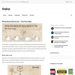 Photoshop Shortcuts – The Fun Way