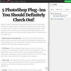 5 PhotoShop Plug-ins You Should Definitely Check Out!