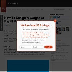How To Design A Gorgeous Big UI Button In Photoshop