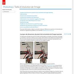 Adobe Help : Taille et résolution de l'image