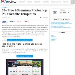 65+ Free & Premium Photoshop PSD Website Templates