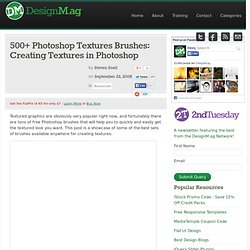 500+ Photoshop Textures Brushes: Creating Textures in Photoshop - Web Design Blog – DesignM.ag