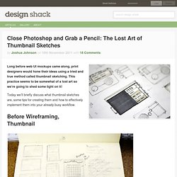 Close Photoshop and Grab a Pencil: The Lost Art of Thumbnail Sketches