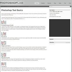Photoshop Tool Basics
