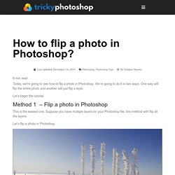How to flip a photo in Photoshop?
