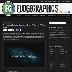 Photoshop Tutorial: Create a Spiral Galaxy in 5 Easy Steps | fud
