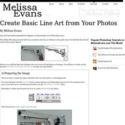 Create Basic Line Art from Your Photos -Photoshop Tutorial