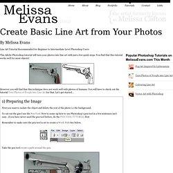 Create Basic Line Art from Your Photos -Photoshop Tutorial