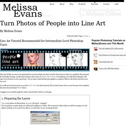 Turn Photos of People into Line Art -Photoshop Tutorial