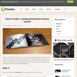 How to make a catalog photoshop mockup tutorial