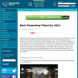 Best Photoshop Tutorials 2011 | Photoshop Articles